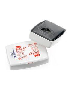 Filtre 3M™ P3R poussières - filtre plissé et protégé par un boîtier - Série 6000