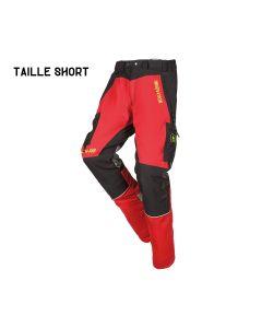 CANOPY W-AIR | Pantalon de protection rouge/noir short - SIP PROTECTION