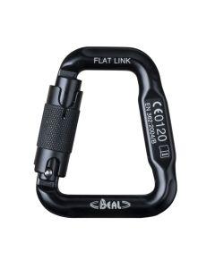 Mousqueton FLAT LINK noir de Béal pour fixer les bretelle au baudrier.