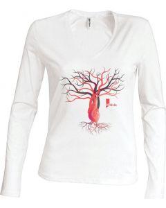 LIFE | T-shirt Femme manches longues - HEVEA
