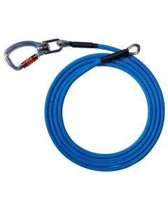 AZUR, corde de rechange armée +  mousqueton TWISTER - FTC