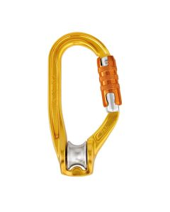 ROLLCLIP TRIACT LOCK, Poulie mousqueton Alu 3 Lock Petzl