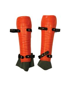 Protège-tibia orange - SOLIDUR