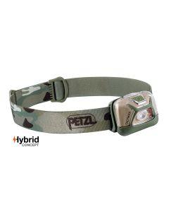 Lampe frontale  professionnelle Tactikka Petzl puissante, compacte et légère, design camouflage.