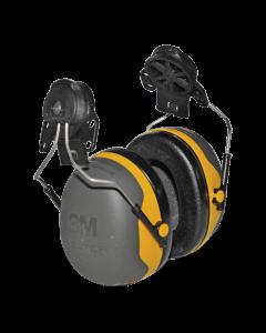 Coquilles antibruit Peltor X2 jaune avec attache P3E