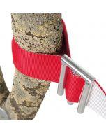 Connexion WOSA pour ruban d'avertissement textile et signalisation de chantier d'élagage.
