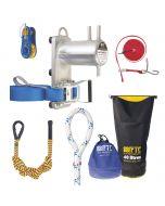 Kit de démontage Mini-cylindre FTC - Hévéa Composition : 1 mini cylindre, 1 corde de rétention Katuali, 1 poulie de démontage Eclipse, 1 élingue BOA, 1 sac de rangement cylindrique