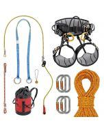 Kit de grimper Hévéa avec baudrier SEQUOIA Petzl et corde de rappel ACID FTC