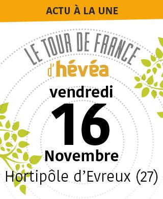 Tour de France d'Hévéa 16/11/2018 Hortipôle d'Evreux (27)