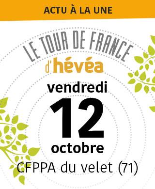 Tour de France d'Hévéa 12/10/2018 CFPPA du Velet (71)
