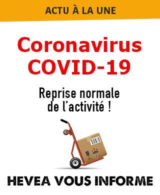 Hévéa vous informe sur les impact du coronavirus sur la disponibilité des produits